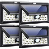URPOWER Solar Lights Outdoor, 3 Modes Solar Motion Sensor Lights with 270° Wide Lighting, IP65 Waterproof Security Lights Outdoor Solar Flood Lights for Front Door, Backyard, Garage, Deck (4 Pack)