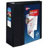 """Avery Heavy Duty View 3 Ring Binder, 5"""" One Touch EZD Ring, Holds 8.5"""" x 11"""" Paper, Black (79606)"""