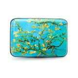 Fig Design Group Women's Blue, - Blue & Green Branches RFID-Secure Credit Card Case