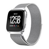 Posh Tech Replacement Bands Silver - Silver Stainless Steel Bandfor Fitbit Versa