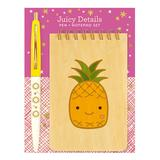 Night Owl Paper Goods Notepads and Notebooks - Juicy Details Wood Mini Notepad & Pen Gift Set