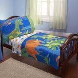 Harriet Bee Mishti Dinosaurs 4 Piece Toddler Bedding Set Polyester in Blue   Wayfair 42CD0D795C85431B94FE6878F07FF061