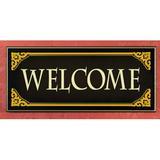 Winston Porter Welcome Sign Wall Decor in Black, Size 9.5 H x 12.0 W in | Wayfair DA4BE46F37D2463883B58820DA251CD2
