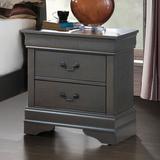 Charlton Home® Arndt 2 Drawer Nightstand Wood in Brown/Gray, Size 23.75 H x 21.6 W x 15.8 D in   Wayfair B6435B6354DE417493A0D2EC622862C1