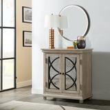 Alcott Hill® Millbank Mirror Front 2 Door Accent Cabinet Wood in Brown/Gray, Size 32.0 H x 30.0 W x 16.0 D in | Wayfair