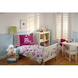 Harriet Bee Mahika Hoot Hoot 4 Piece Toddler Bedding Set Polyester in Pink   Wayfair 74CD31BC37AB4187AE1CFD06E3B6249D