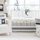 Harriet Bee Sweitzer Black Bear 3 Piece Crib Bedding Set Cotton in Black/White, Size 27.5 W in   Wayfair 8468290098664389A1B08A3DA45EC9C1