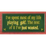 Winston Porter Life Playing Golf Sign Wall Decor in Green, Size 9.5 H x 12.0 W in | Wayfair 5F783CBAF6994742BAF83304B3CD7D03
