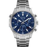 Men's Chronograph Marine Star Stainless Steel Bracelet Watch 43mm 96b256 - Metallic - Bulova Watches