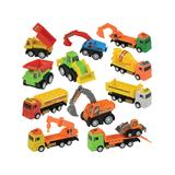 CP Toys - Pull-Back Construction Vehicle Toy - Set of 12
