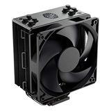 Cooler Master Hyper 212 Black Edition CPU Air Coolor, Silencio FP120 Fan, 4 CDC 2.0 Heatpipes, Anodized Gun-Metal Black, Brushed Nickel Fins for AMD Ryzen/Intel LGA1200/1151
