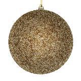 "Vickerman 531501-4"" Champagne Beaded Ball Christmas Tree Ornament (6 pack) (N185638D)"