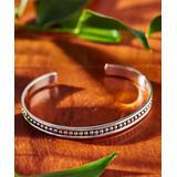 Urban Silver Women's Bracelets SILVER - Sterling Silver Embellished Cuff