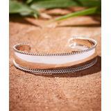 Urban Silver Women's Bracelets SILVER - Sterling Silver Weave Border Cuff