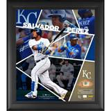 """""""Salvador Perez Kansas City Royals Framed 15"""""""" x 17"""""""" Impact Player Collage with a Piece of Game-Used Baseball - Limited Edition 500"""""""