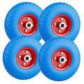 Forever Speed PU Rad 3.00-4 Sackkarrenrad Gummirad Vollgummi-Reifen Universal Schubkarren-Reifen PU auf Stahlfelge schwarz mit 80kg Traglast 260x75mm (4 pcs)