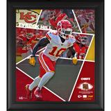 """Tyreek Hill Kansas City Chiefs Framed 15"""" x 17"""" Impact Player Collage with a Piece of Game-Used Football - Limited Edition 500"""