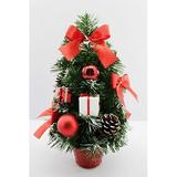 The Holiday Aisle® Fir Artificial Christmas Tree w/ 20 Clear Lights in Green, Size 12.0 H x 6.0 W x 6.0 D in   Wayfair