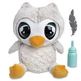 """FAO Schwarz 1005694 Hoots The Interactive Animated Talking Owl Automatic Electronic Robotic Touch-Activated Doll Plush, 13"""" H X 13"""" W X 9"""" D. (3 Lb), Grey"""