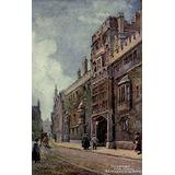 Oxford 1905 Gateway & Tower Brasenose College Poster Print by William Matthison (24 x 36)