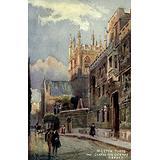Oxford 1905 Merton Tower & Corpus Christi Gateway Poster Print by William Matthison (18 x 24)