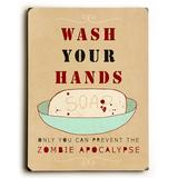 ArteHouse Decorative Plaques Multi - 'Wash Your Hands' Wood Wall Art