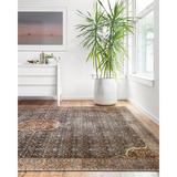 World Menagerie Doroteia Oriental Cobalt/Spice Area Rug Polyester in Blue, Size 144.0 H x 108.0 W x 0.12 D in | Wayfair
