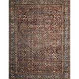World Menagerie Gertrudes Oriental Brick/Area RugPolyester in Blue, Size 114.0 H x 90.0 W x 0.13 D in   Wayfair 74C83C264ED64F67B478CAA88DFC697D