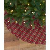 VHC Brands Christmas Tree Skirts - Barn Red Plaid Galway Tree Skirt