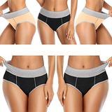 OPIBOO Women's Cotton Underwear,Soft Underwear Women Briefs,Ladies Comfort Breathable Underpants Panties (Multicoloured 5, Large, l)