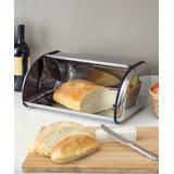 home basics Bread Boxes SILVER - Silver Stainless Steel Bread Box