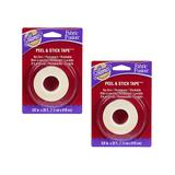 Aleenes Fabric Fusion Fabric Adhesives - 0.62'' Permanent Fabric Peel & Stick Tape - Set of Two