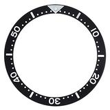 Replacement Bezel Insert Compatible with Seiko Diver Watch Black