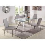 Milan Joana/Dezie Dining Set, Silver