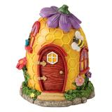 HearthSong Gardening Toys - Yellow & Red Honeycomb Fairy Village House Decor