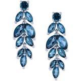 Peridot Vine Drop Earrings (6-3/4 Ct. T.w.) In Sterling Silver - Blue - Macy's Earrings