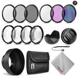 Zeikos 58MM Multi-Coated Professional Lens Filter Kit, Macro Close-Up Filter Set, Lens Cap and Lens Cap Keeper with Pouch and Microfiber Cloth for Canon EF 70-300mm F4-5.6 is USM