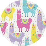 Creative Converting Llama Party Supplies Paper Disposable Dessert Plate Paper in Green/Indigo   Wayfair DTC4558E2A