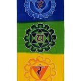 World Menagerie Meditation Chakra Batik Rayon Tapestry in Blue/Green/Orange, Size 74.0 H x 13.75 W in | Wayfair 9FA233E758D641A98DD5A4C17E5A7381
