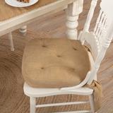 August Grove® Burlap Natural Indoor Chair Pad CushionCotton Blend, Size 3.0 H x 15.0 W x 15.0 D in | Wayfair 1CDF34927E0846CCB16CBB63B2C766CD