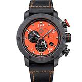 LIV Swiss Watches GX1 Swiss Analog Display Chronograph Casual Watch for Men; 45 mm Stainless Steel with Date Calendar; 660 feet Water-Resistant - The Orange