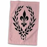 East Urban Home Grove Fleur De Lis French Decor Tea Towel Microfiber/Terry/Cotton in Pink, Size 22.0 H x 15.0 W in   Wayfair