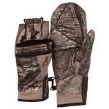 Men's Huntworth Fleece-Lined Stealth Convertible Flip-Top Mittens, Size: Large, Green