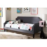 Baxton Studio Walden Modern and Contemporary Grey Fabric Upholstered Twin Size Sofa Daybed - 95-Walden-Grey-Daybed