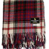 "I LUV LTD Scottish Tartan Warm Wool Mix Throw Blanket Macdonald Modern Dress Plaid Couch Blanket Bed Throw Blankets Wool Rug Outdoor Blankets and Throws 60"" x 72"""
