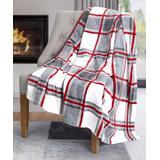 Safdie & Co. Inc. Throws multi - Plaid Ribbed Flannel Throw