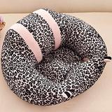 CTlite Infant Sitting Chair Floor Nursery Support Seat Pillow Protector Plush Cushion Toy Baby Sofa for Newborn Baby Toldder Kids Children (Grey Leopard Print)