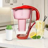 Dafi Alkaline Crystal Water Filtration Pitcher in Red, Size 10.63 H x 7.87 W x 7.87 D in | Wayfair Crystal Akaline RED
