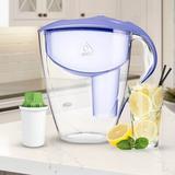 Dafi Alkaline Astra Water Filtration Pitcher in Indigo, Size 11.02 H x 4.24 W x 10.24 D in   Wayfair Astra Alkaline VIOLET