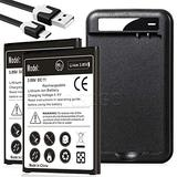 [LG Stylo 3 Plus Battery Combo Pack], 2X 4400mAh Replacement LG BL-44E1F Battery with LG Stylo 3 Plus Battery Charger USB Cable for LG Stylo 3 Plus MP450 TP450 Batteries Kit